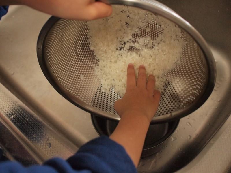 炊飯釜にうつす